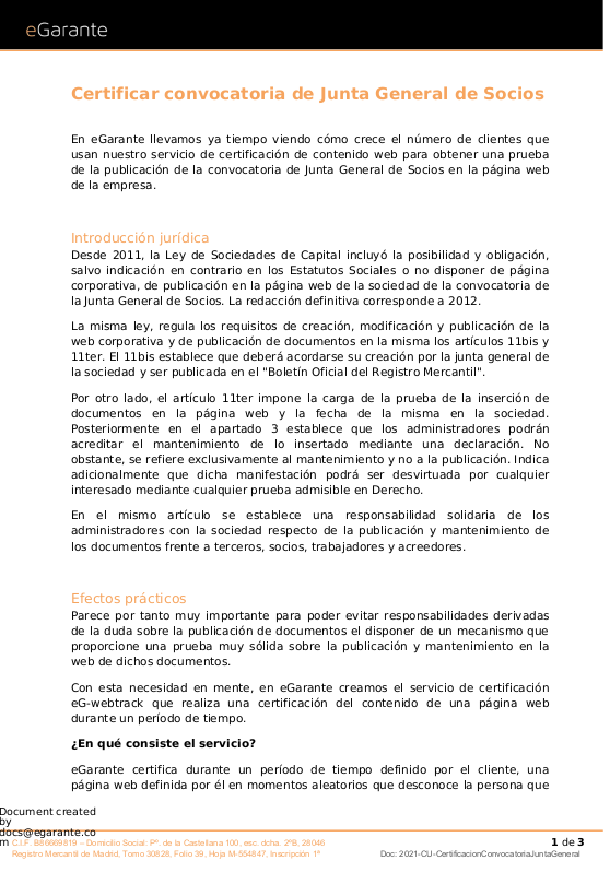 Guía sobre cómo certificar convocatorias de Junta General con eG-webtrack - descargar