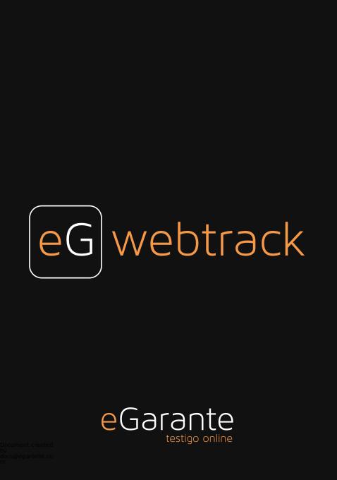Manual para certificar páginas web con eG-webtrack